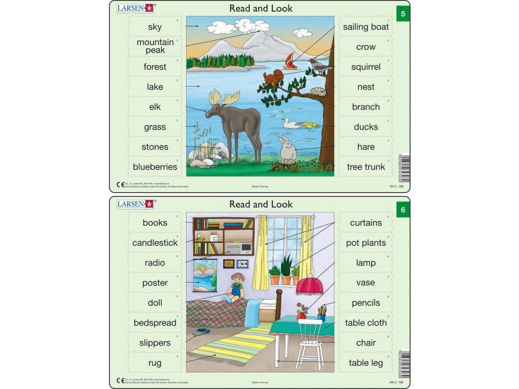 Puzzle Angličtina - slovíčka RA3 16 dílků