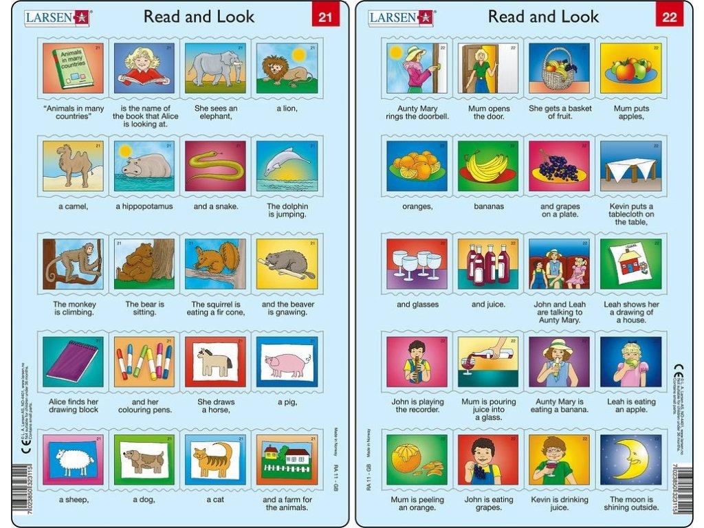 Puzzle Angličtina - delší věty RA11 20 dílků