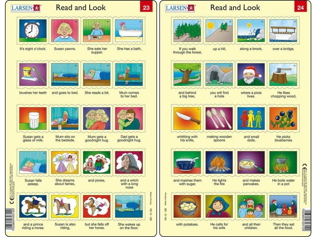 Puzzle Angličtina - delší věty RA12 20 dílků