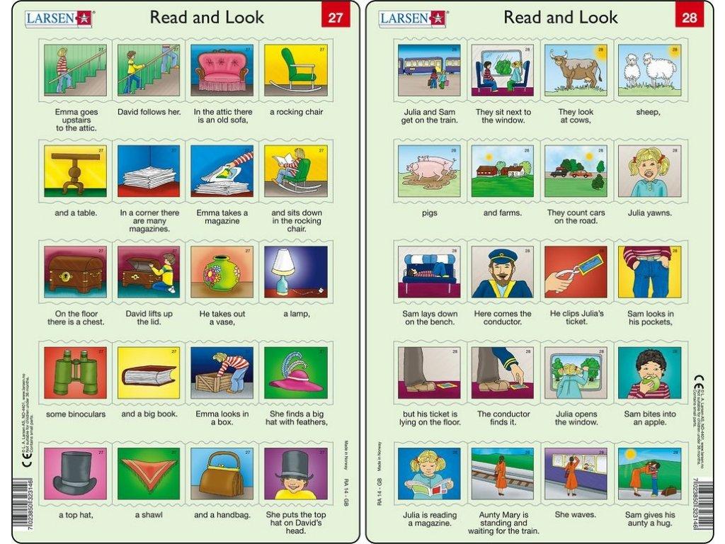 Puzzle Angličtina - delší věty RA14 20 dílků
