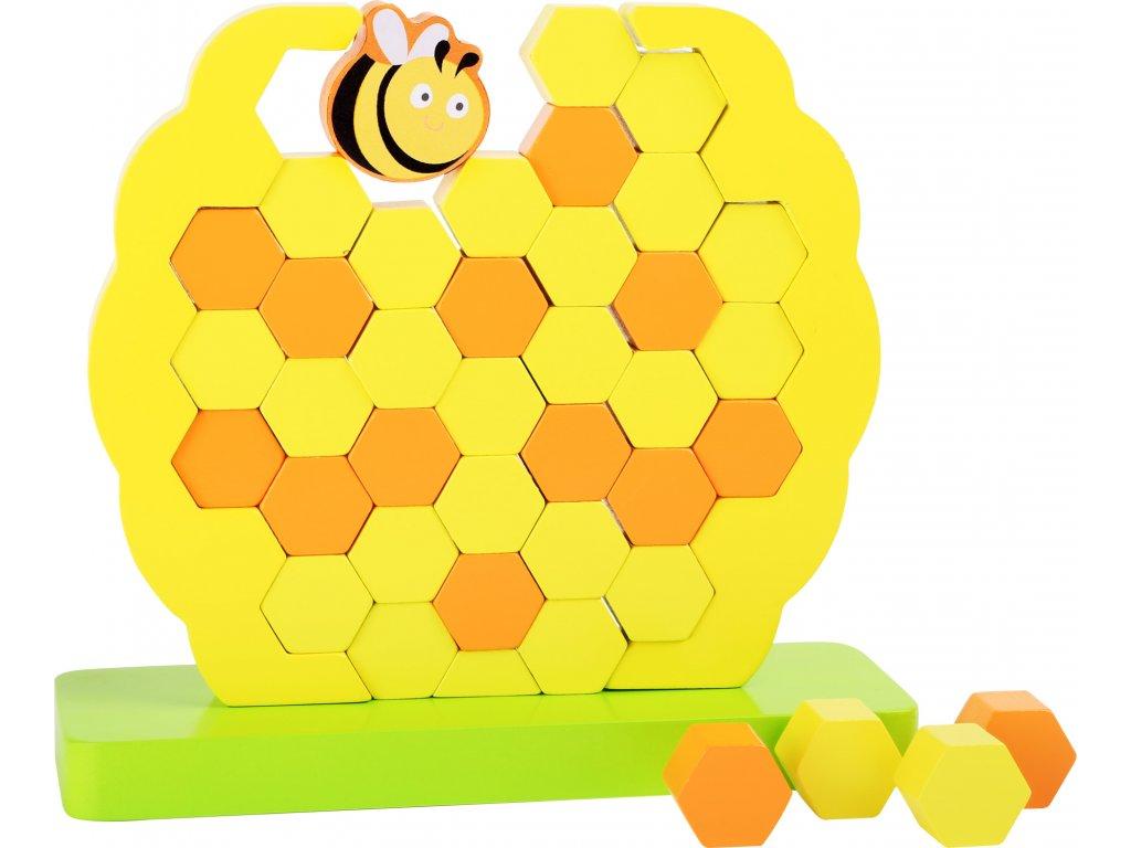 Small Foot Motorická balanční hračka včelí úl
