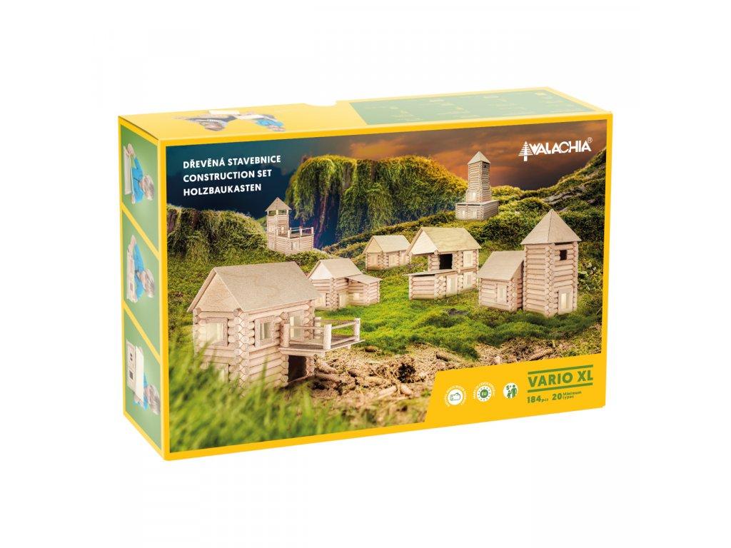 Walachia Dřevěná stavebnice Vario XL 184 dílů