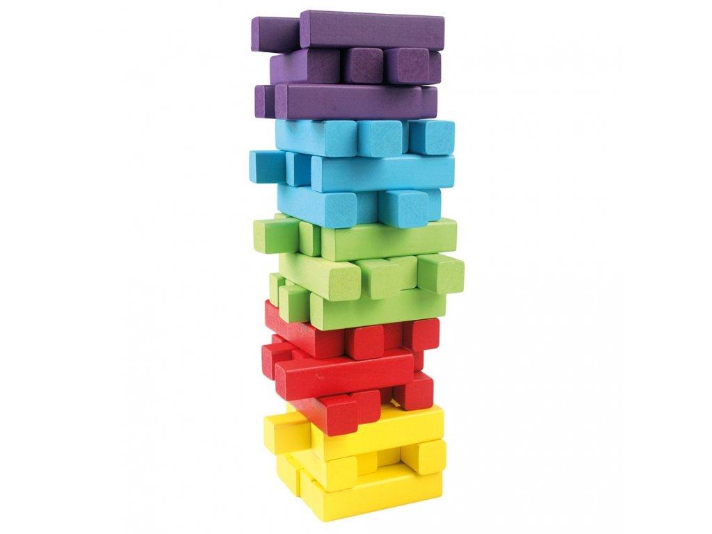 Bino Hra věž, 60 dílů + kostka