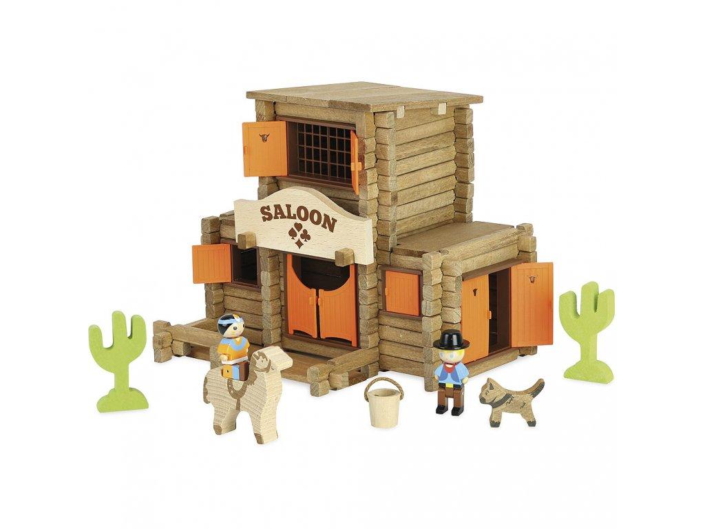 Jeujura Dřevěná stavebnice 170 dílů Saloon