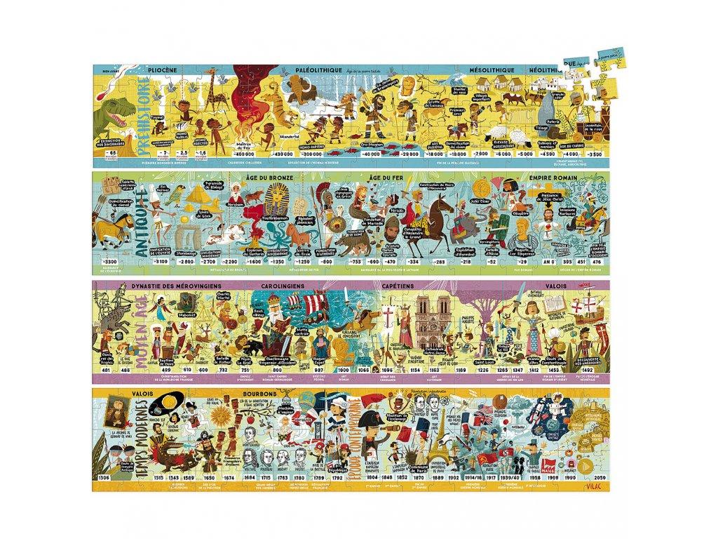 Vilac Velké dřevěné puzzle historie