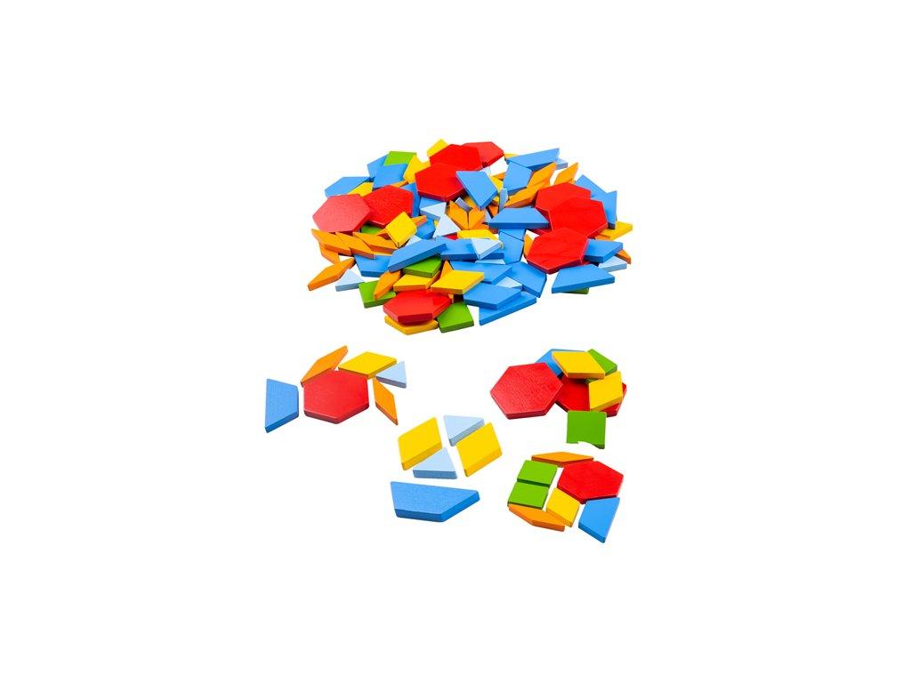 Bigjigs Toys Dřevěná barevná mozaika