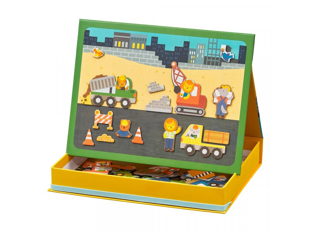 Petit Collage Magnetická tabulka stavba