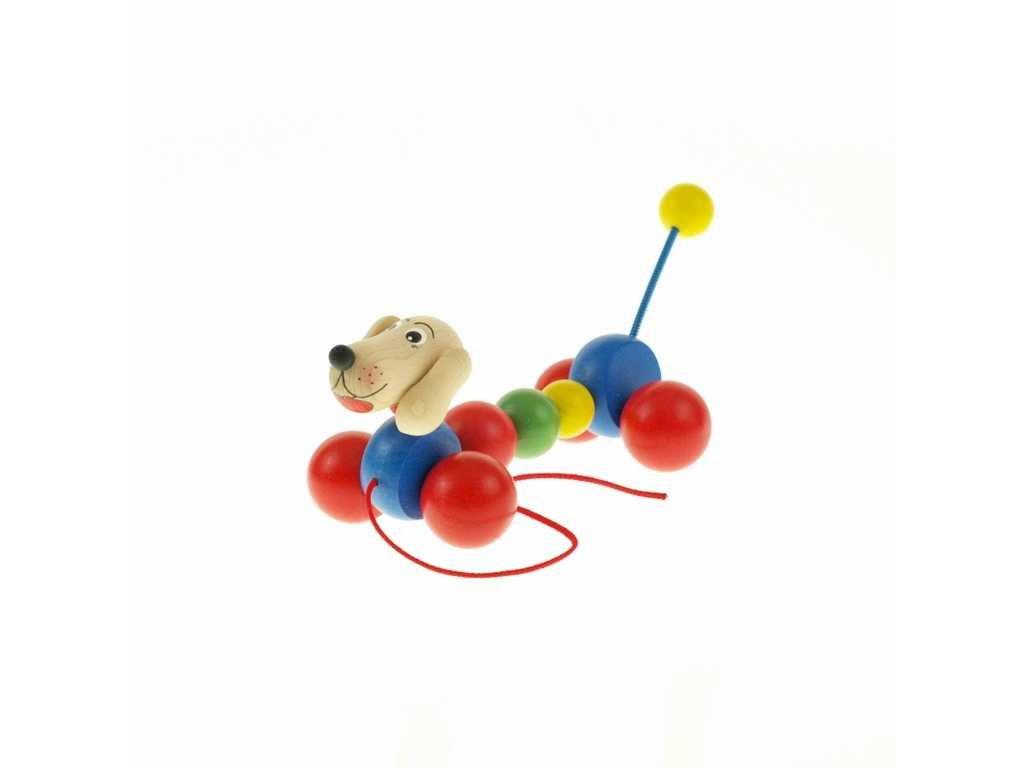 Dřevěná tahací hračka - Jezevčík