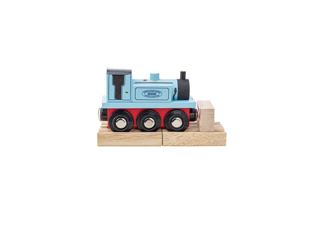 Bigjigs Rail Dřevěný vláček Teriér modrý