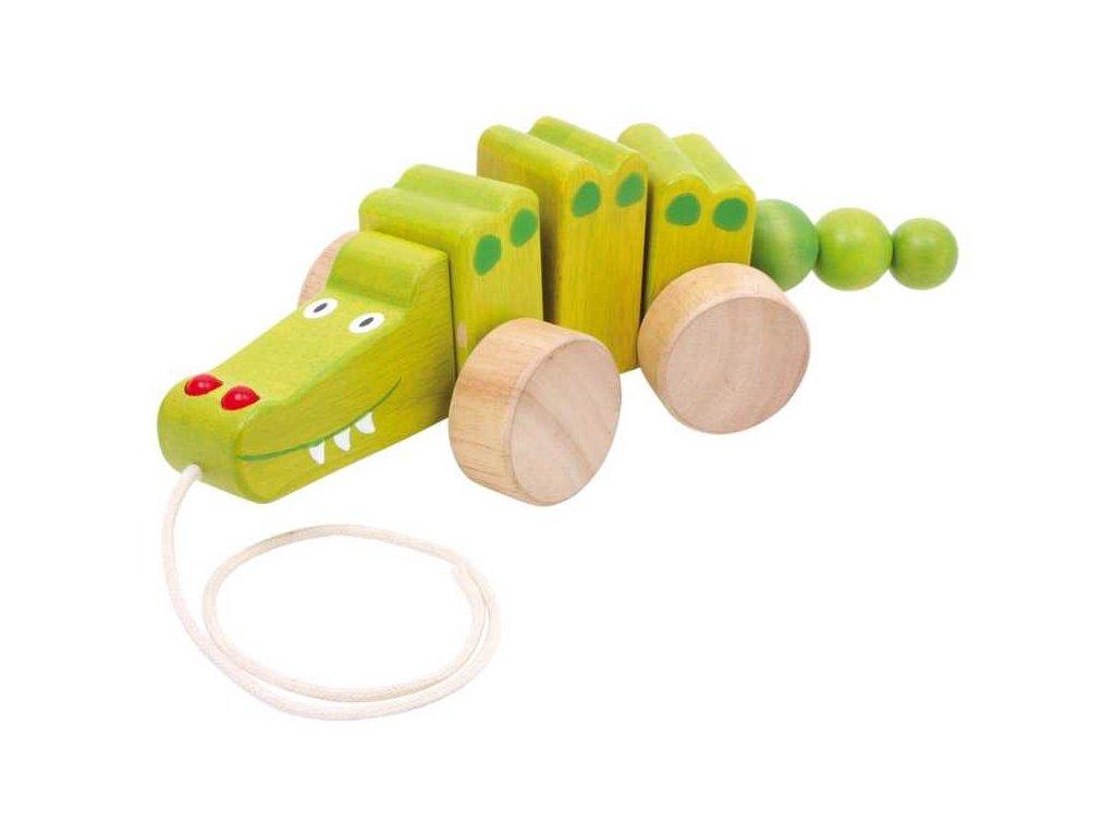 Small Foot Dřevěný tahací krokodýl