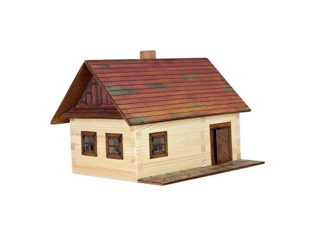 Walachia Dřevěná slepovací stavebnice roubená chalupa
