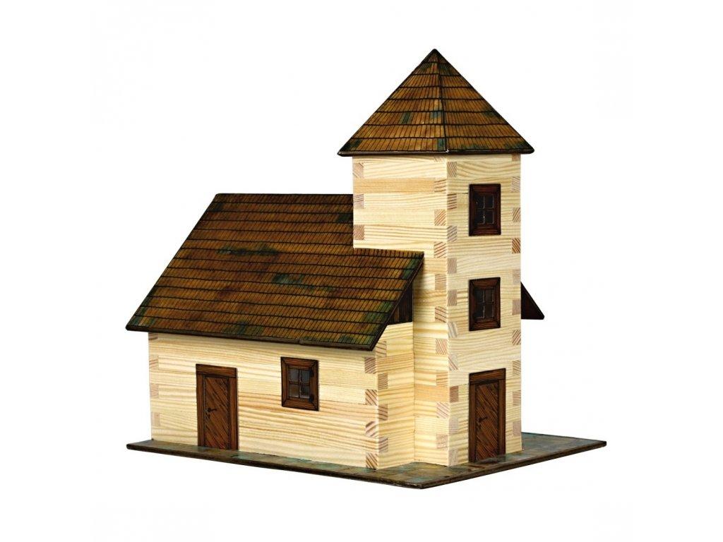 Walachia Dřevěná slepovací stavebnice Kostel