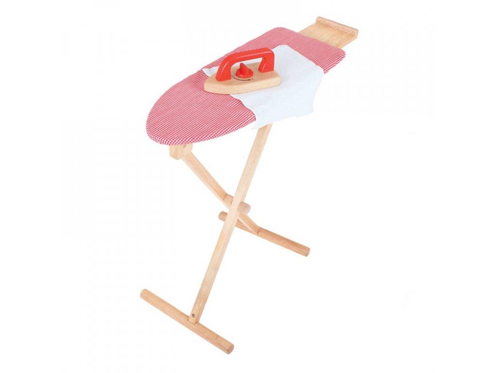 Bigjigs Toys Dřevěné žehlící prkno s žehličkou