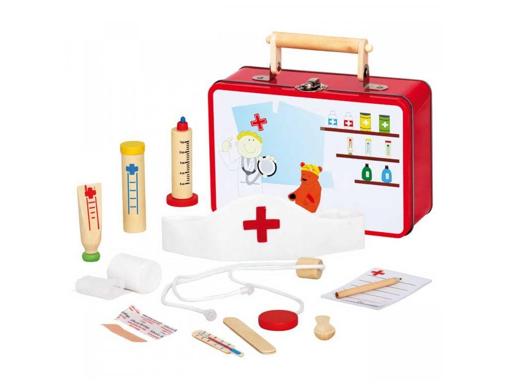 Bino Dřevěné hračky zvěrolékařský kufřík