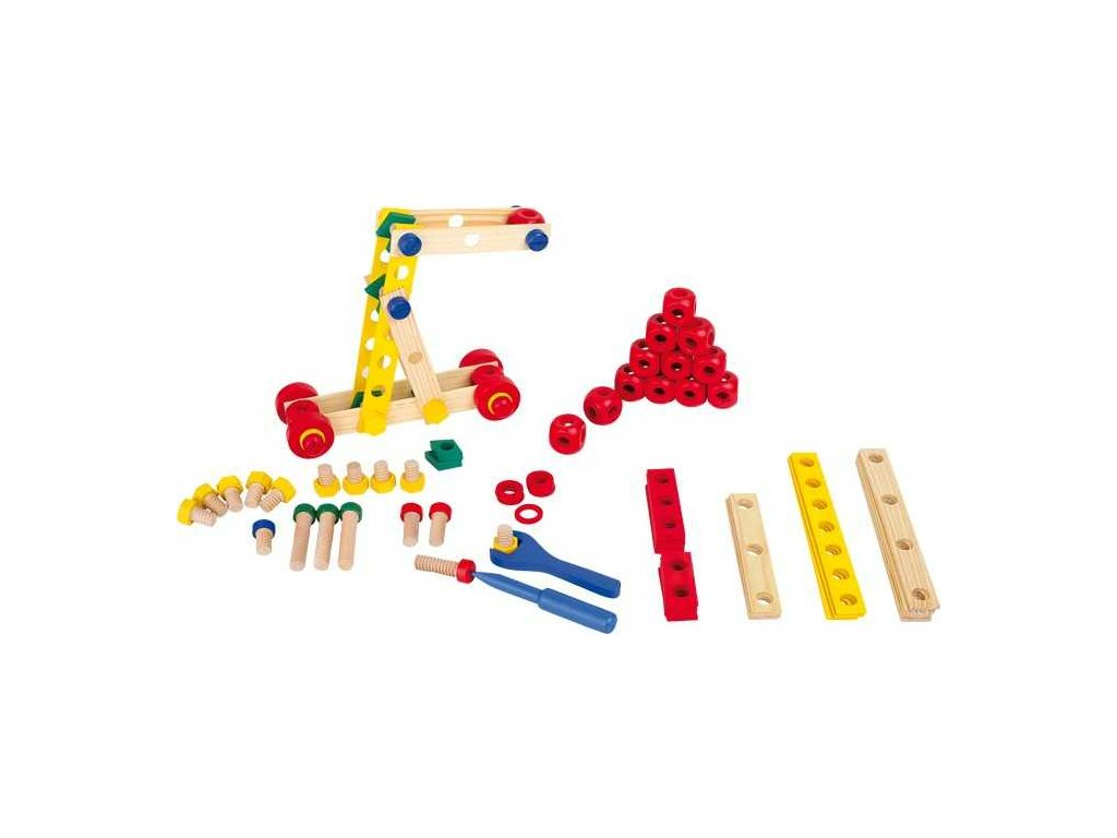 Small Foot Dřevěné hračky konstrukční sada šrouby