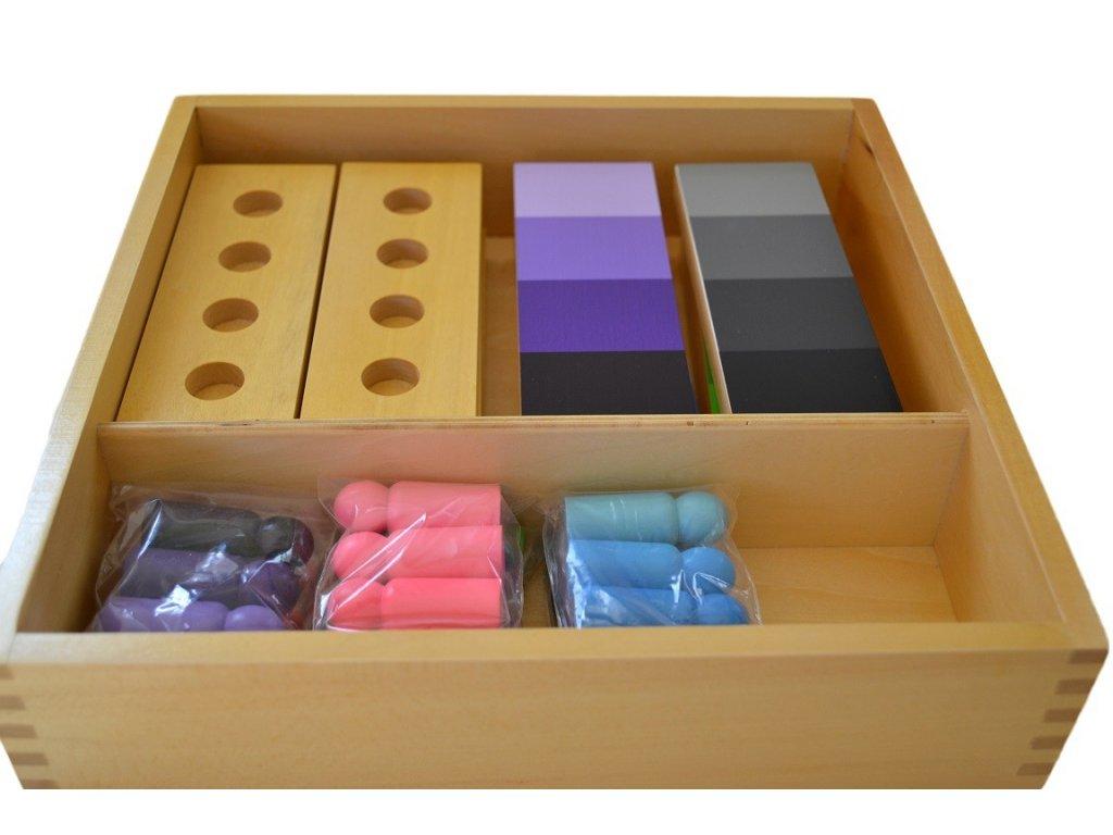 Stínování barev - figurky s destičkami