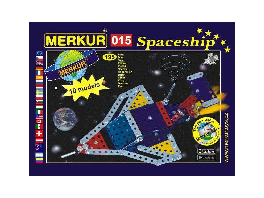 Merkur 015 Raketoplán - 195 dílů
