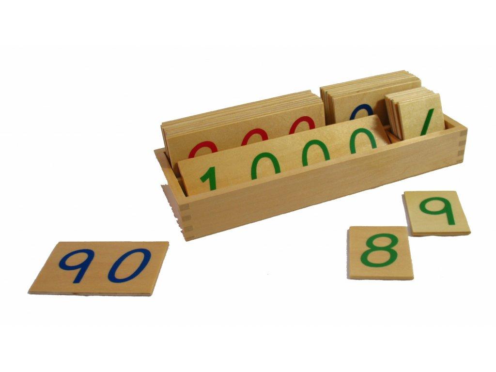 Velké dřevěné karty s čísly 1-1000