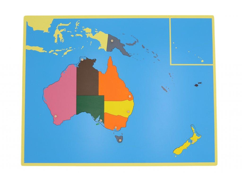 Puzzle - mapa Australie - bez rámečku