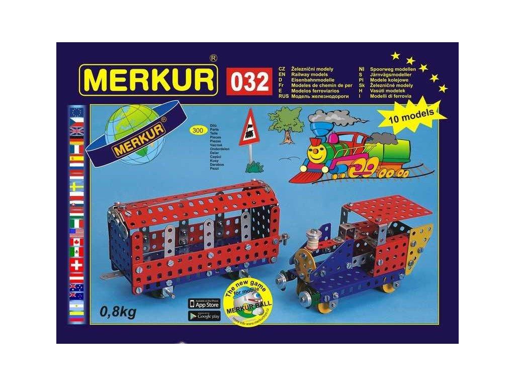 Merkur 032 Železniční modely - 300 dílů