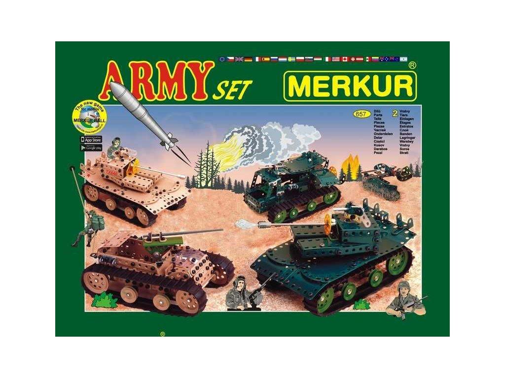 Merkur ARMY Set - 657 dílů