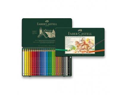Akvarelové pastelky Faber-Castell Albrecht Dürer Magnus plechová krabička, 24 barev