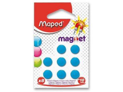 Kulaté magnety Maped - průměr 10 mm 8 ks, mix barev