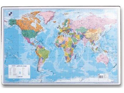 Podložka na stůl mapa světa 60 x 40 cm