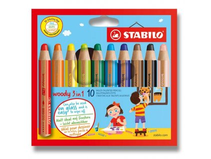 Pastelka Stabilo Woody 3 in 1 10 barev