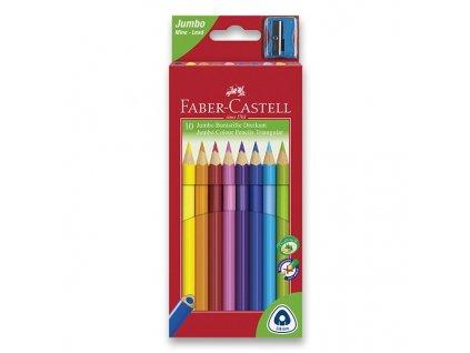 Pastelky Faber-Castell 116510 Junior Triangular 10 barev + ořezávátko
