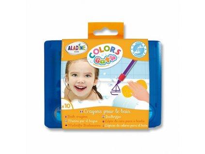 Voskové pastelky AladinE do vany 10 barev