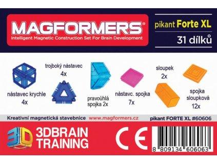 Magformers Pikant Forte XL, 31 ks