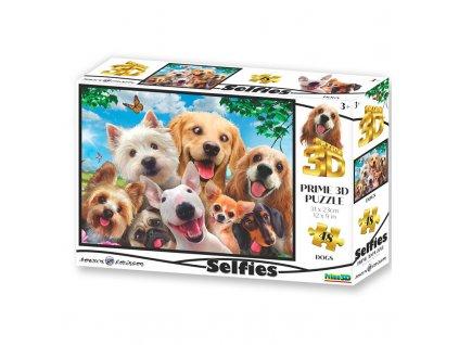 Puzzle 3D Pes selfie 48 dílků
