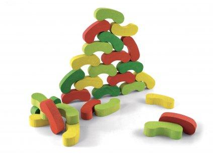 Jeujura Barevné fazolky 60 dílků