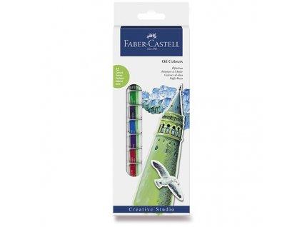 Olejové barvy Faber-Castell 12 barev