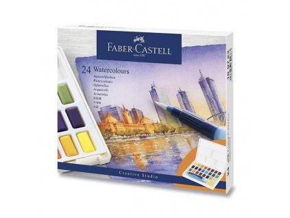 Akvarelové barvy Faber-Castell s paletkou 24 barev