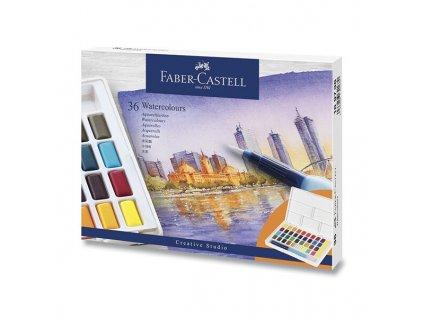Akvarelové barvy Faber-Castell s paletkou 36 barev