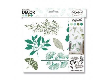 Razítka Aladine Stampo Decor Rostliny, 6 kusů