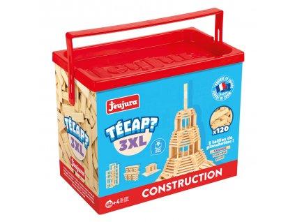 Jeujura Dřevěná stavebnice Técap 3XL 120 dílů