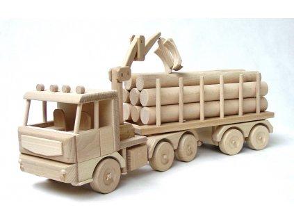 Ceeda Cavity - dřevěné auto - Tirák s kládama velký 70 cm