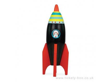 Le Toy Van barevná raketa 1 ks černá Le Toy Van barevná raketa 1 ks černá