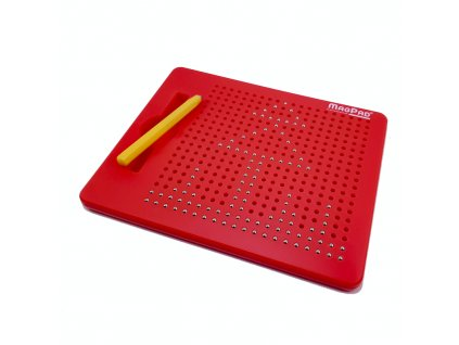 Magnetická kreslící tabulka Magpad - červená - 380 kuliček
