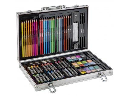 Umělecký kufřík kovový naplněný