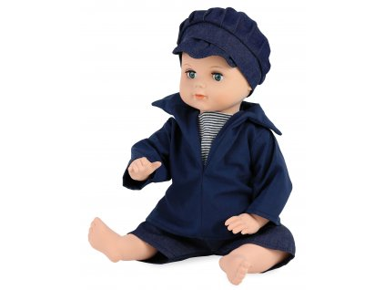 Petitcollin Koupací panenka 40 cm Marin (modré oči)