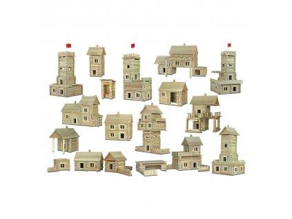 Walachia Dřevěná stavebnice Vario Box 418 dílů