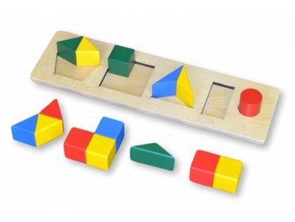 Barevné cihly, různé tvary, menší rozměr