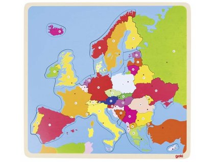 Puzzle na desce - Evropa