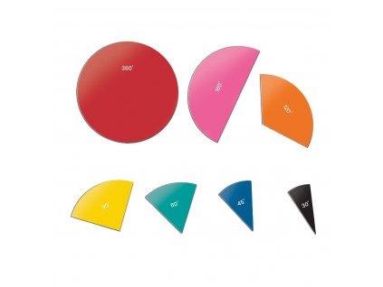 Barevné kruhy s úhly - magnetické