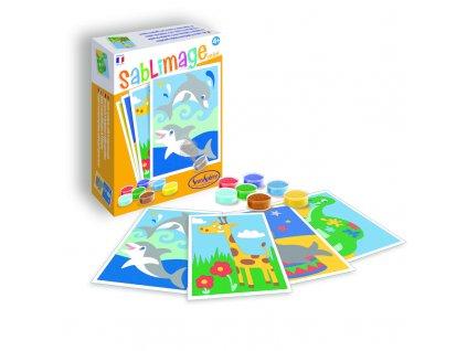 Sablimage mini: Pískové obrázky - Exotická zvířata