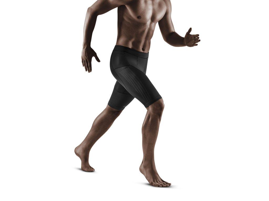 Run Compression Shorts 3 0 black m front model 1536x1536px
